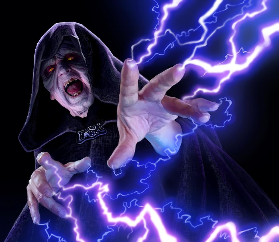 Image result for emperor palpatine's lightning