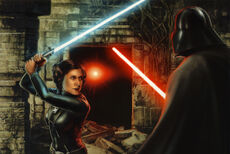 Leia fighting Vader on Mimban EGF
