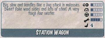 Station wagon infocard