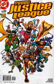 Young justice 50 cover