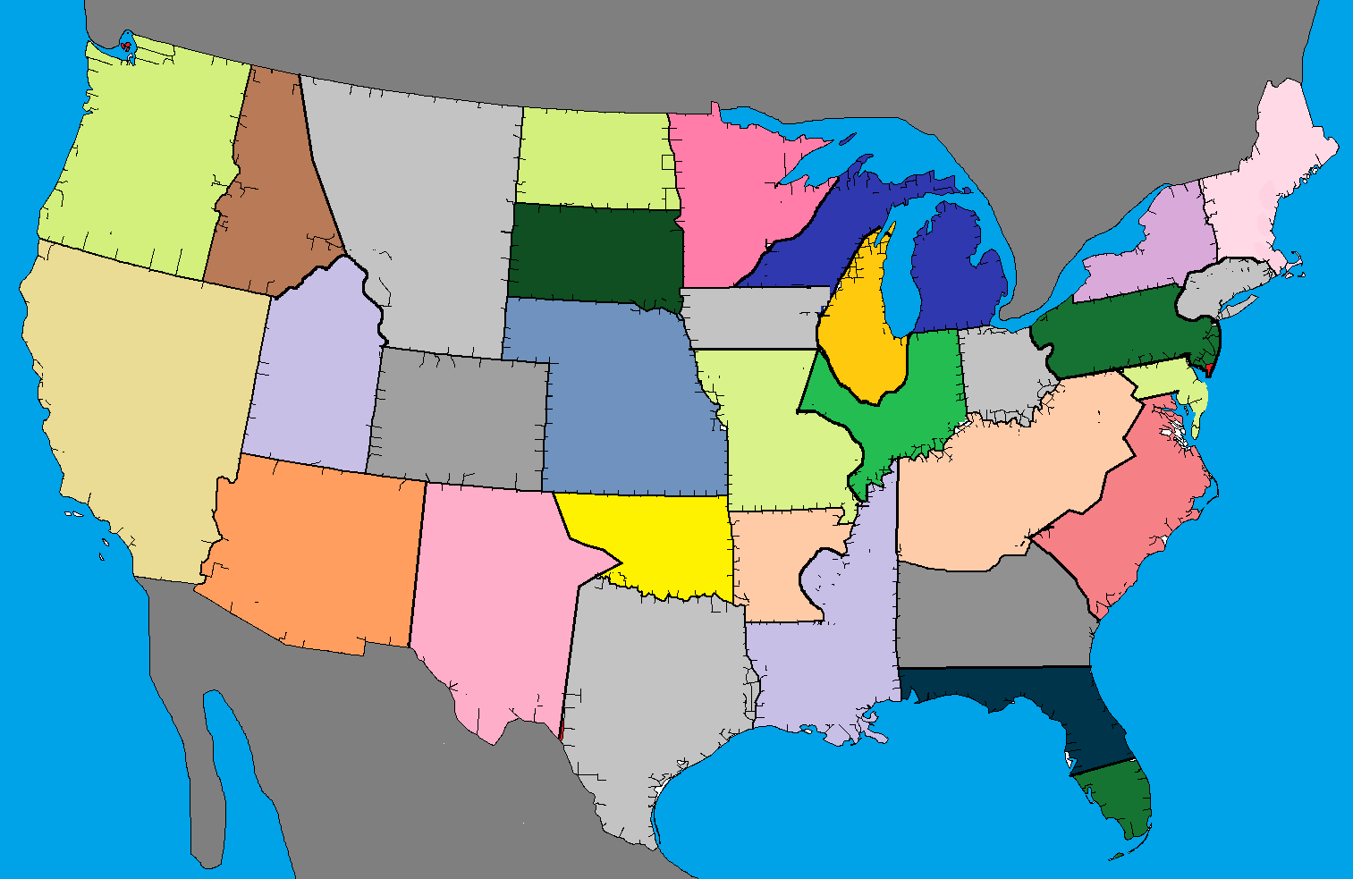 Grand Theft Auto United States Of America Map Stephenpedia Wikia - San andreas on us map