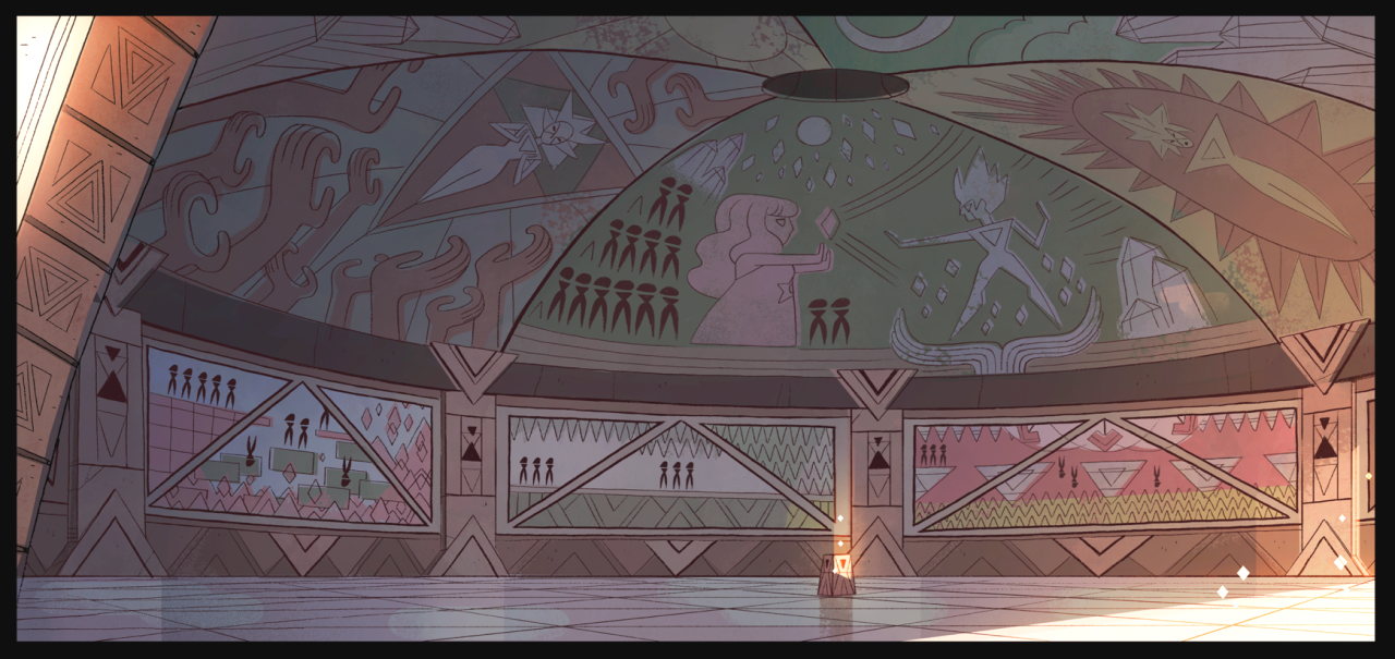 Extended steven universe theme hints at major villain oh for Yellow diamond mural