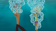 S1 E8 Reef and Fin go under water to see who can hold their breath for the longest