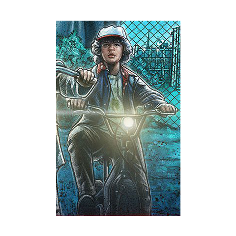 Dustin on the season one poster.