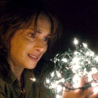 Joyce talking to Will through Christmas lights.