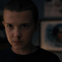 Eleven reveals her powers to the boys.