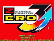 Street Fighter Zero 3 Upper Title Screen