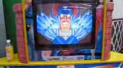 Street Fighter II Whack-A-Mole game in Odaiba