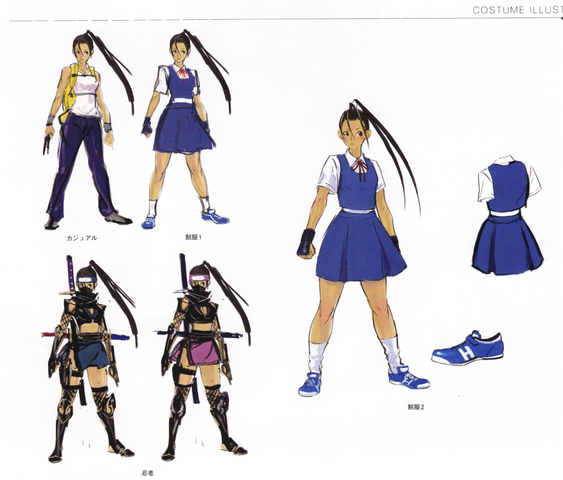 File:Ibuki alternate costumes concept art from Super Street Fighter IV Official Complete Works.png
