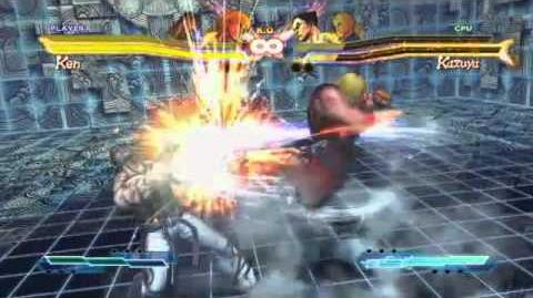 Ken's Super Art and Cross Assault in Street Fighter X Tekken