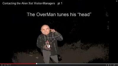OverMan tunes his head