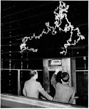 GE FM radio antistatic demonstration 1940