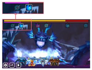 Raid boss attack bar