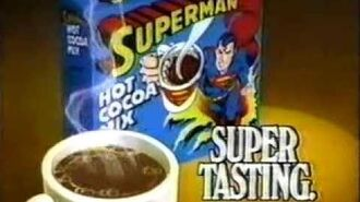 VINTAGE 80'S ANIMATED SUPERMAN HOT COCOA CHOCOLATE COMMERCIAL