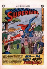 Ma and Pa Kent adopt Supergirl