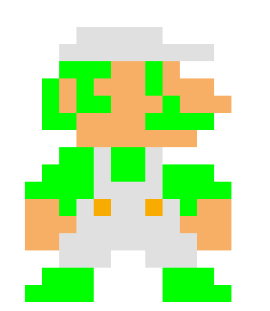 Image - 8 bit luigi.png | Super Smash Bros. Fanon | Fandom ...