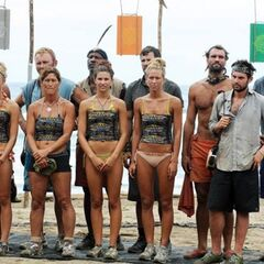 The castaways before the Immunity Challenge.