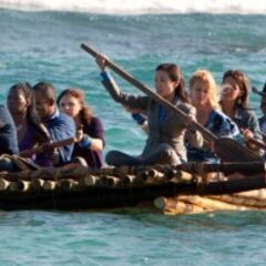 Upolu arriving to Redemption Island on Day 1.