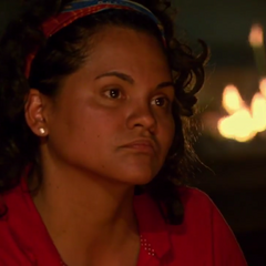 Sandra at Mana's second Tribal Council.