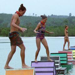 Abi-Maria competing in <a href=