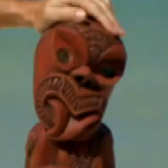 <i>Survivor: One World</i> Immunity Idol, the Hei-tiki.
