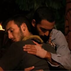 Brandon hugging <a href=
