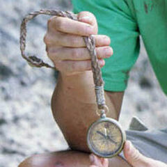 <i>Survivor: Cook Islands</i> Hidden Immunity Idol, a broken compass.