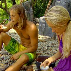 Matt and Krista before the duel.