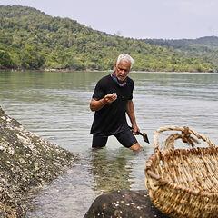 Joe fishing.