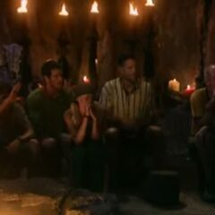 The tribe after Ruth-Marie's elimination