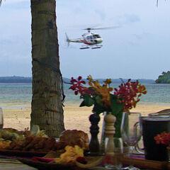 The chopper nearing the feast.