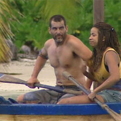 Johnatan and Rebecca at the Immunity Challenge.
