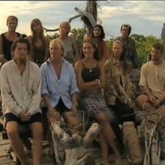 The Robinson '98 Tribe at Tribal Council