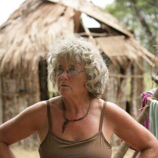 Gillian at the Fang camp.