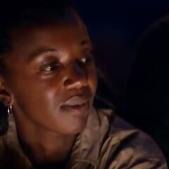 Vee at Tribal Council.