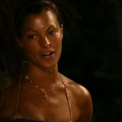 Stephanie's last words to her tribe mates.
