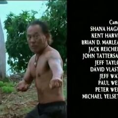 The Credits of Bruce performing his martian arts.