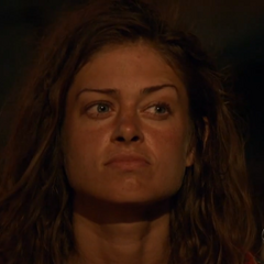 Hali at her third Tribal Council.
