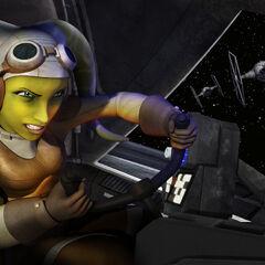 Hera pilots the <i>Ghost</i>