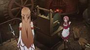 Lisbeth wishing Asuna luck