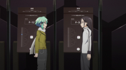 Kirito and Sinon talking about their block