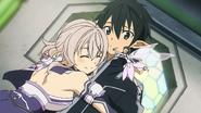 LS Strea and Yui hugging Kirito