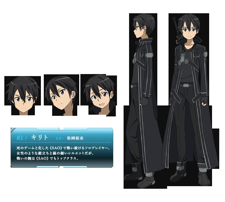 Image Kirito Avatar Png Sword Art Online Wiki Fandom