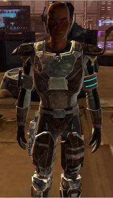 Purple Mandalorian armor