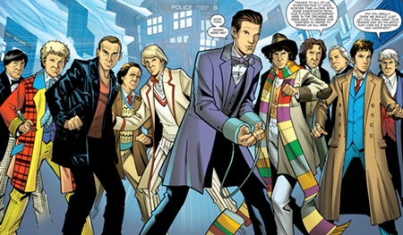 File:All the Doctors gather together.jpg