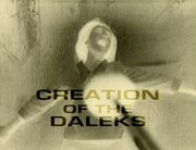 Creation of the Daleks