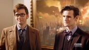 """DOCTOR WHO *Exclusive Extended* Inside Look Ten & Eleven Together in """"The Day of The Doctor"""""""