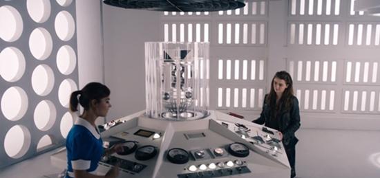 Clara and Me in Clara's TARDIS