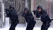 Guards faceoff
