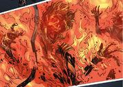 Burning corpse
